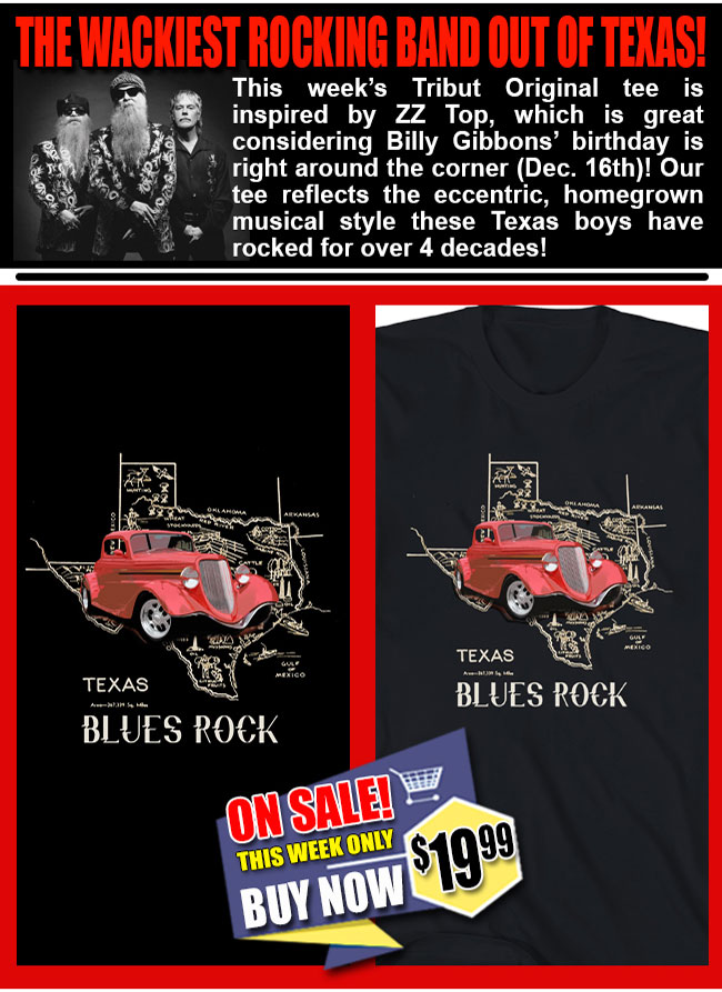 Click Here to Shop our Texas Blues Rock Tee!