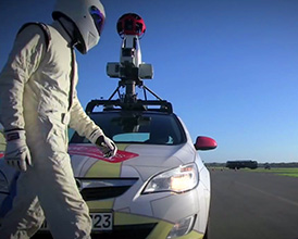 The Stig and Google Street View Car