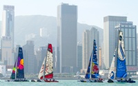 The Extreme 40s set off at the start of the Around the Island Race in Hong Kong